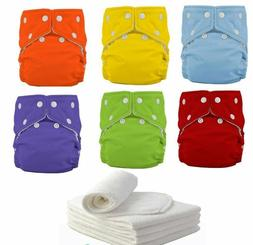 5 Pack Diapers Inserts Adjustable Reusable Baby Washable Clo
