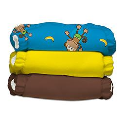 Charlie Banana 2-in-1 Reusable Diapering System, 3 Diapers p