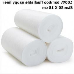 1 Roll Bamboo Flushable Liner 100 Sheets Disposable For Baby