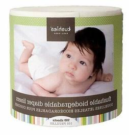 100 Sheets, Flushable & Fully Biodegradable Diaper Liners