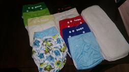 12 brand new cloth diapers inserts and covers