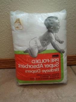12 Vintage NEW Super Absorbent Birdseye Diapers Pre Folded