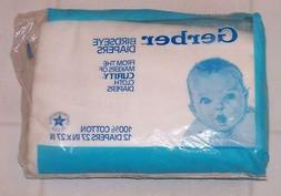 1988 Gerber / Curity Birdseye Cloth Diapers - Package of 12