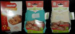 2 Cloth Diapers NEW BumGenius Newborn All-In-One + Free Samp