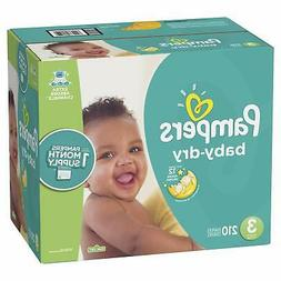 210 Count Pampers Baby Dry Disposable ONE MONTH SUPPLY Diape