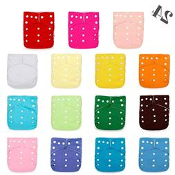Kawaii Baby 24 Original Squared One Size Cloth Diapers with