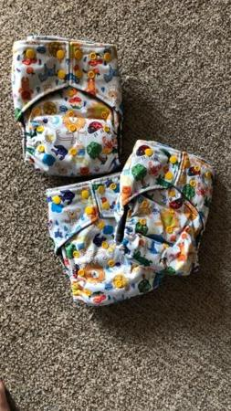 3 OkieB Modern Cloth All-in-One Pocket Diapers