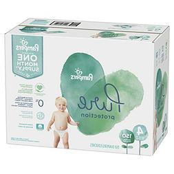 Size 4, 150 Count - Pampers Pure Disposable Baby Diapers, Hy