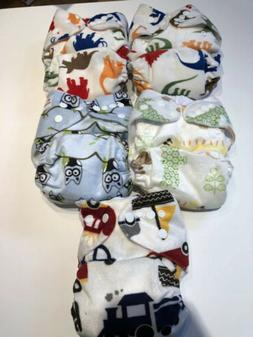 5 AlvaBaby Cloth Diapers/Inserts Velour Baby Soft Fabric - N