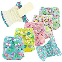 5 Newborn AI2 Cloth Diapers Bamboo All in Two Cloth Nappies