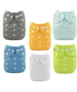 5 NWT 1 Used Once Alva Baby Cloth Diapers Pack Of 6 Multicol