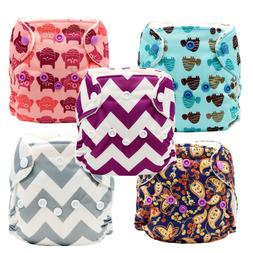 MABOJ 5PCS Newborn Cloth Diaper New Arrive Reusable and Wash