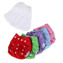 5x 5 diapers 5 inserts adjustable reusable