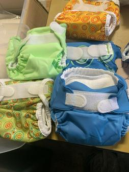 6 Bumkin Reusable Cloth Diapers, and Diaper Liners   C2
