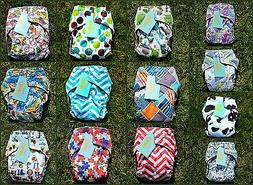6 OkieB Modern Cloth All-in-One Pocket Diapers