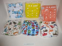 6 PACK LBB Baby Reusable Washable Pocket Cloth Diapers Adjus
