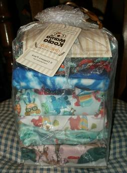 6 Pack Mama Koala Diapers Stay Dry Pocket Diaper One Size 8-