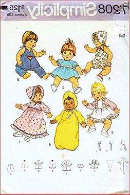 Simplicity 7208 Sewing Pattern Baby Alive Ginny Baby Powder