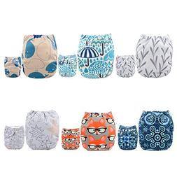 ALVABABY Pocket Cloth Diapers Reusable Washable Adjustable O