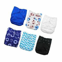 Babygoal Baby Cloth Diaper Covers for Boys, Adjustable Reusa