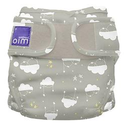 Bambino Mio, Miosoft Cloth Diaper Cover, Cloud Nine, Size 1