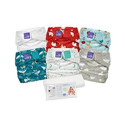 Bambino Mio, Miosolo Cloth Diaper Set, OneSize, Dream Travel