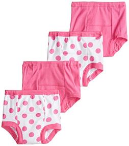 Gerber Toddler Girls' 4 Pack Training Pants, Polka Dot, 2T
