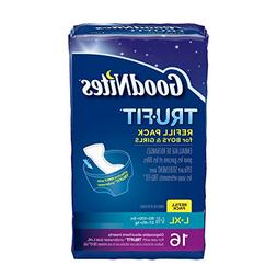 GoodNites TRU-FIT Refill Pack Disposable Absorbent Inserts f