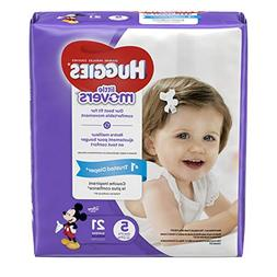 HUGGIES LITTLE MOVERS Diapers, Size 5 , 21 Ct., JUMBO PACK ,