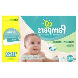 Pampers Baby Wipes Natural Clean 16X Refill, 1152 Count