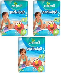 Pampers Splashers Disposable Swim Diapers, Size 5, 22 Count,