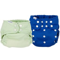 Gerber 2 Piece It's a Snap All-in-One Cloth Diaper, Blue/Gre