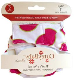 CuteyBaby That's a Wrap Diaper Cover, Big Pink Dot, Medium