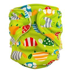 FuzziBunz Adjustable First Year Pocket Diaper - Turtle Time