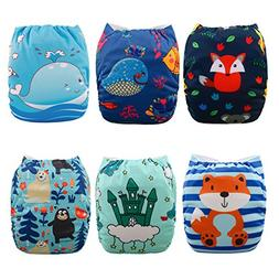 Babygoal Cloth Diapers for Boys, Adjustable Reusable Nappy 6