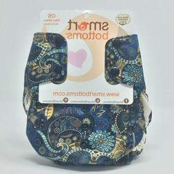 Smart Bottoms All In One OS Cotton Diaper 10-35 Lbs New