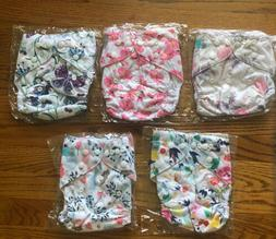 ALVA BABY Cloth Pocket Diapers Lot of 5; NO INSERTS