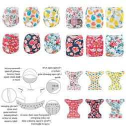 Alvababy Cloth Diaper, One Size Adjustable Washable Reusable