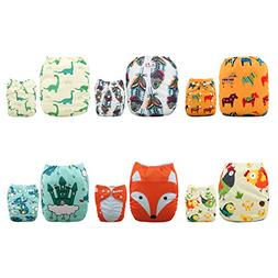 ALVABABY Cloth Diapers One Size Adjustable Washable Reusable