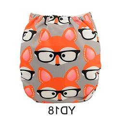 ALVABABY New Printed Design Reuseable Washable Pocket Cloth
