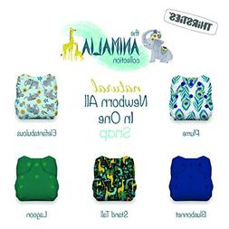 Thirsties Animalia Cloth Diaper Collection Package, Snap Nat