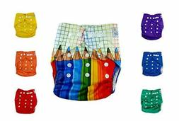 Nakie Baby 7 Pocket Cloth Diaper RAINBOW Set Washable Colorf