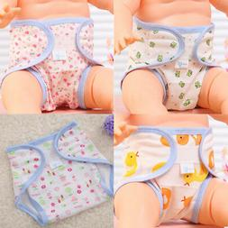 Baby Accessories Cute Animals Printed Cotton Diapers Washabl