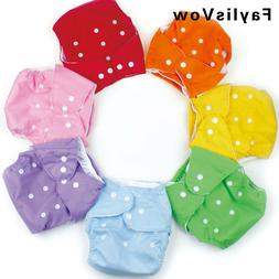 Baby Adjustable Infant Nappy Cotton Cloth Diapers Soft Cover