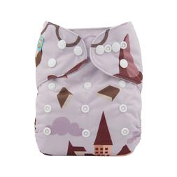 ALVABABY All In One Diaper With Pocket Sewn-in 4-layer Bambo