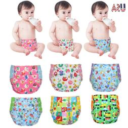 Baby Cloth Diapers + 5 Inserts Baby One Size Adjustable Diap