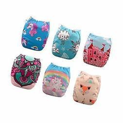 Babygoal Baby Cloth Diapers for Girls, One Size Pocket Adjus
