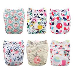 Babygoal Baby Cloth Diapers for Girls, Reusable Adjustable O