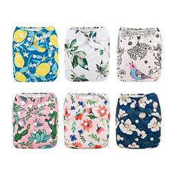 Babygoal Baby Cloth Diapers for Girls, Washable Reusable Poc