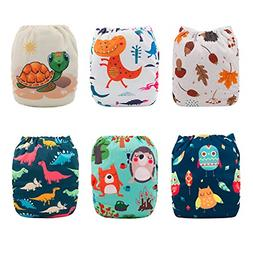 Babygoal Baby Cloth Diapers, One Size Washable Pocket Nappy,